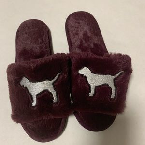 NWT Pink by Victoria's Secret fuzzy slippers